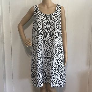 Love Linen Black & White Shift Dress w/ Pockets LP